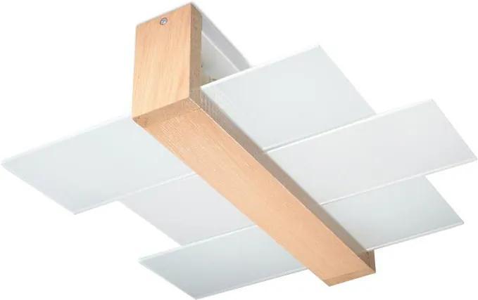 Sollux Stropné svietidlo FENIKS 2 2xE27/60W/230V prírodné drevo SLX0048