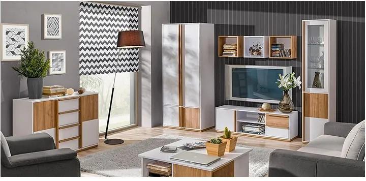 TEMPO KONDELA Knox obývacia izba biela / orech select