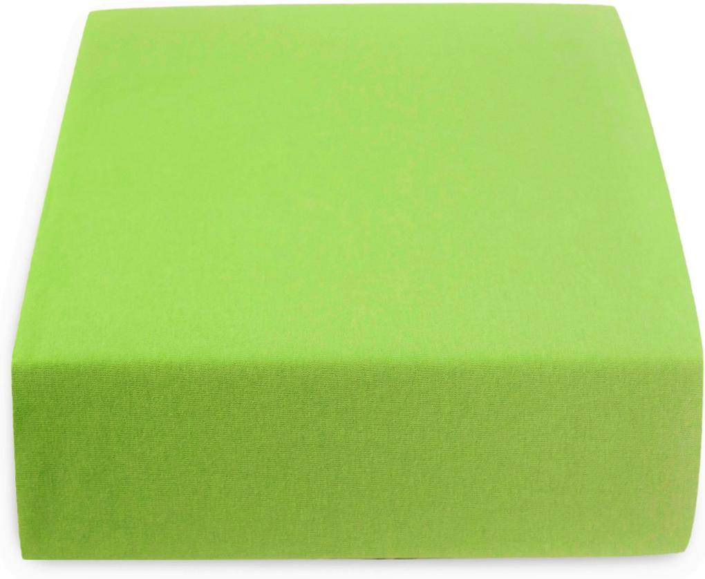 Jersey plachta do detskej postieľky zelená