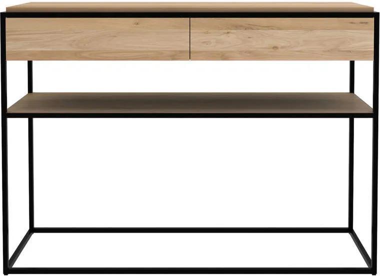 Ethnicraft Konzolový stolík Monolit, oak/black