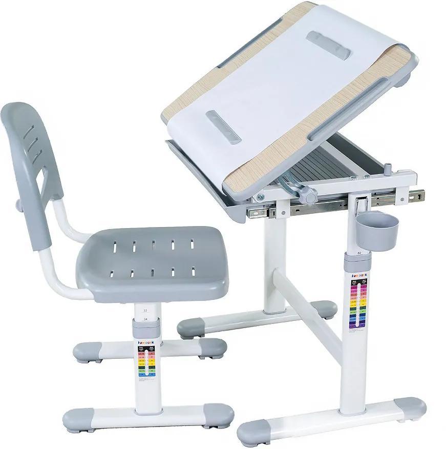 FD Rastúci stôl a stolička Banabius - viac farieb Farba: Sivá