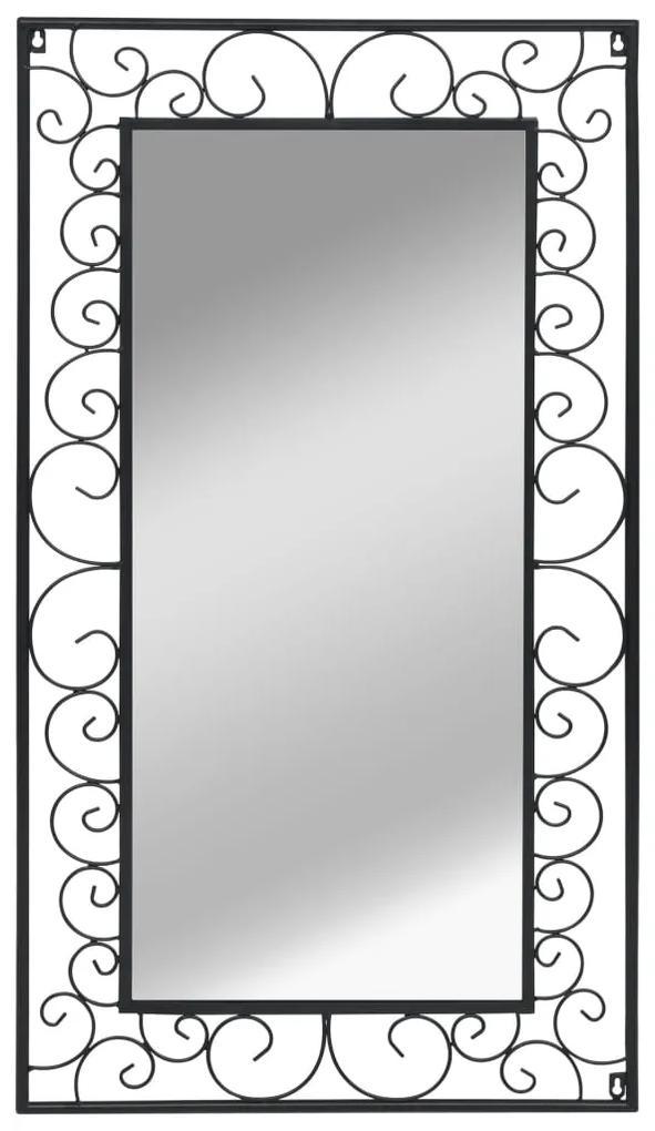 vidaXL Nástenné zrkadlo, obdĺžnikové, 60x110 cm, čierne