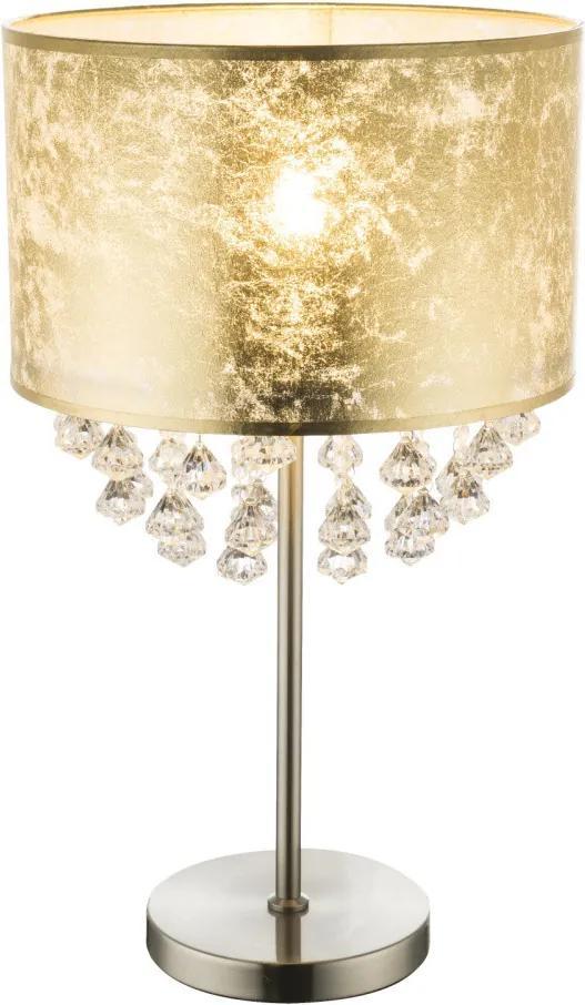 Globo AMY 15187T3 Nočná stolová lampa nikel kov 2 x E27 max. 60W IP20