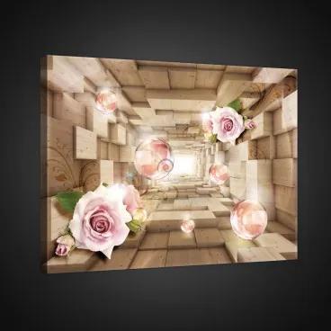 Obraz na plátne obdĺžnik - OB0769 - Ruže 100cm x 75cm - O1