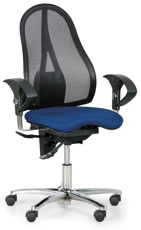 TOPSTAR Kancelárska stolička EXETER NET, modrá