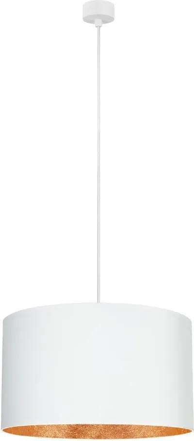 Biele stropné svietidlo s vnútrajškom v medenej farbe Sotto Luce Mika, ∅ 50 cm