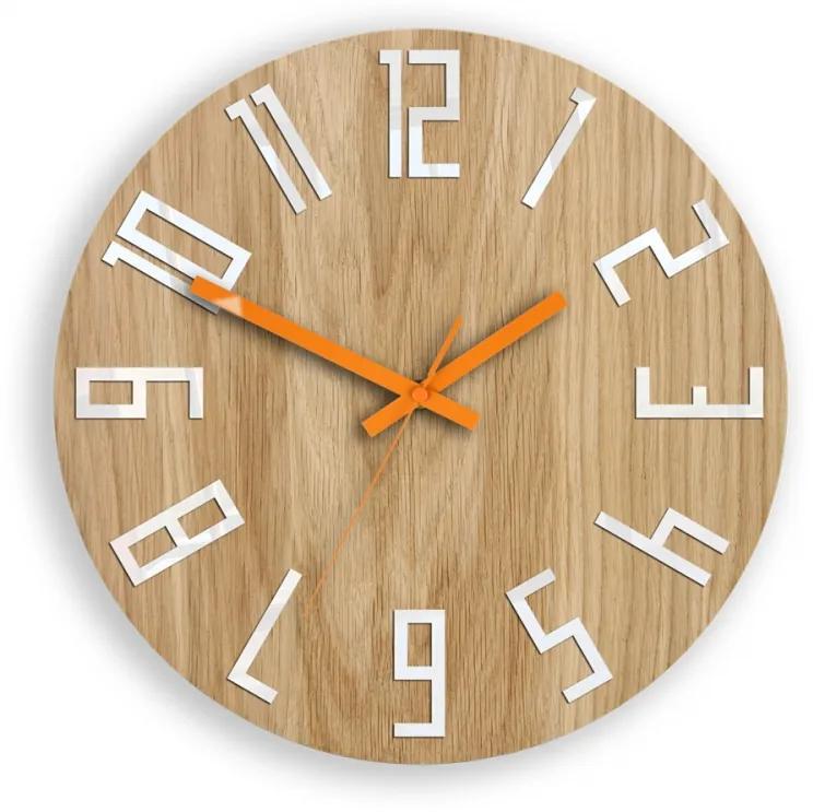 Mazur Nástěnné hodiny Slim Mit hnědo-oranžové