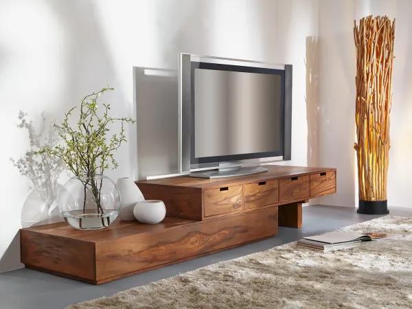TV stolík 260x40x40 indický masív palisander, Only stain