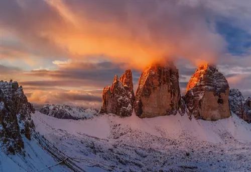 Vliesové fototapety, rozmer 368 x 254 cm, Italské horské vrcholy, W+G 5063-4V-1