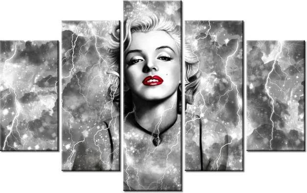 Tlačený obraz Elektrizujúca Marilyn Monroe 100x63cm 2477A_5D