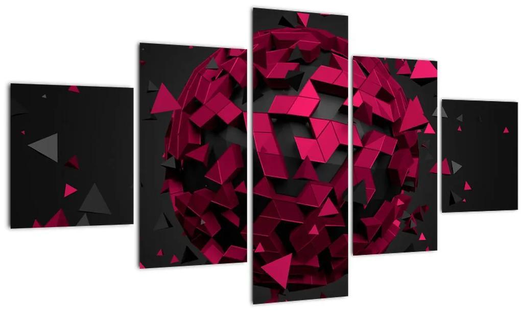 Obraz 3D abstrakcie (125x70 cm), 40 ďalších rozmerov