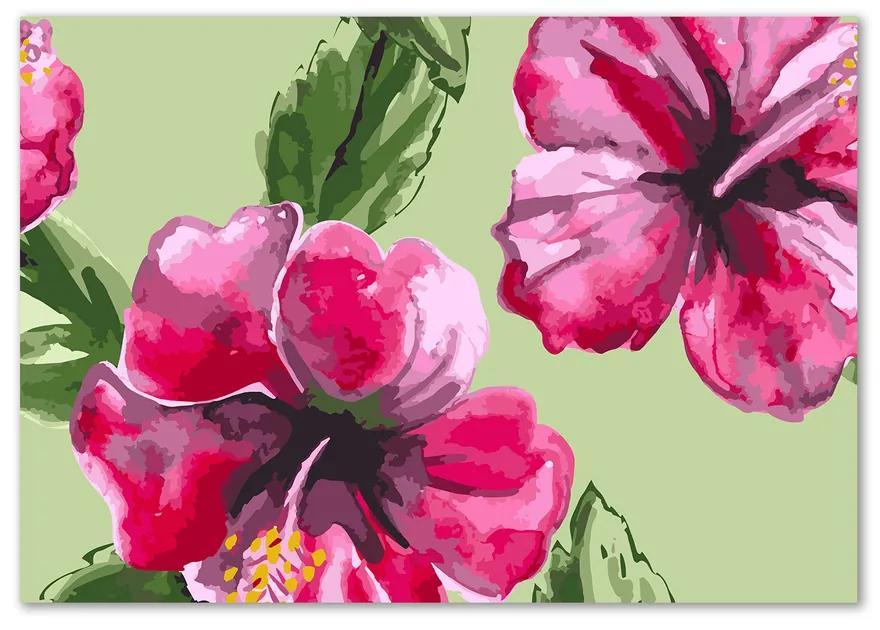 Fotoobraz na skle Havajské kvety pl-osh-100x70-f-81980078