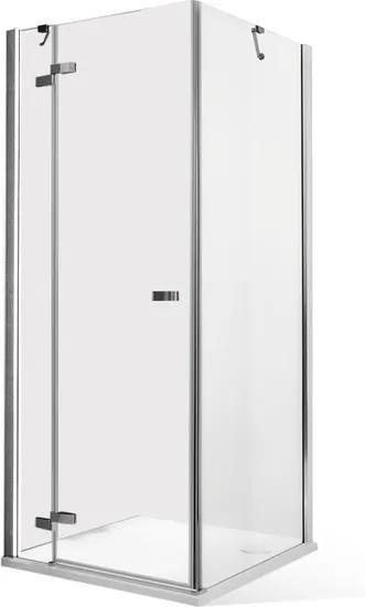 Roltechnik Štvorcový sprchovací kút CORNER ELEGANT LEFT 90 cm 80 cm