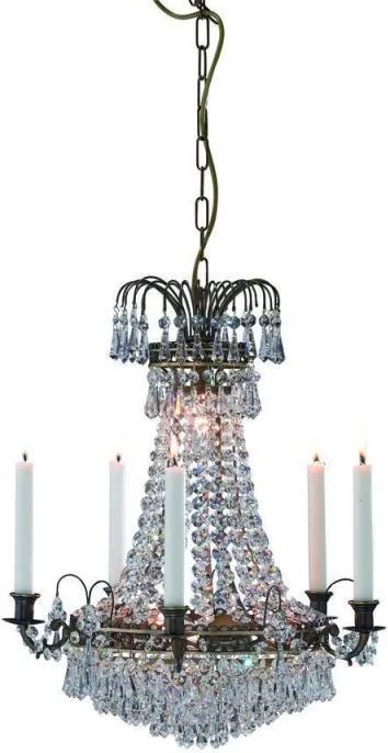 Sviečkový závesný krištáľový luster 100642