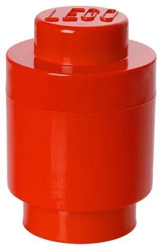 Červený úložný okrúhly box LEGO®, ⌀ 12,5 cm