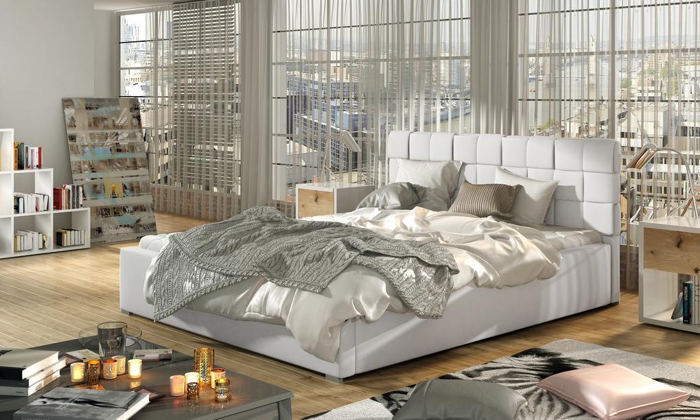 Moderná posteľ Ground 180x200cm, biela