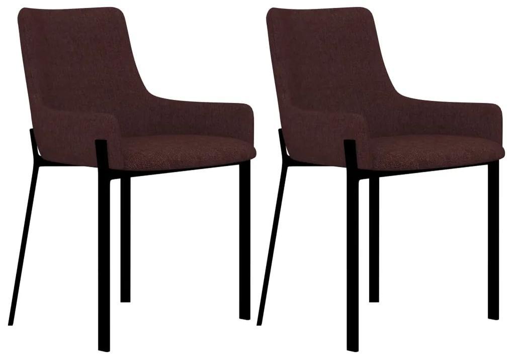 vidaXL Jedálenské stoličky 2 ks, vínové, látka