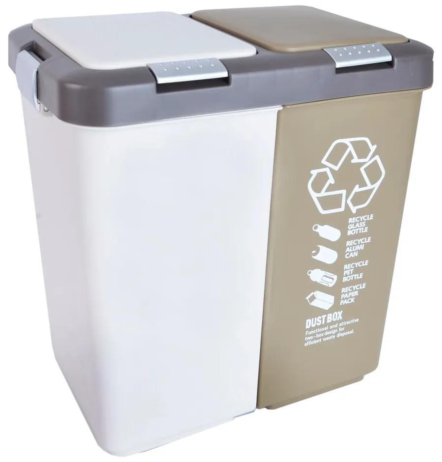 Dvojitý odpadkový kôš na triedený odpad Orion Duo Dust, 40 l