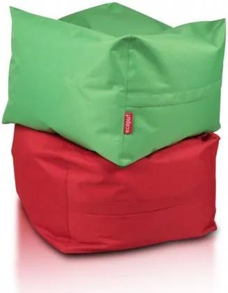 Ecopuf Sedací vak ECOPUF - CUBO - polyester NC12 - Červená