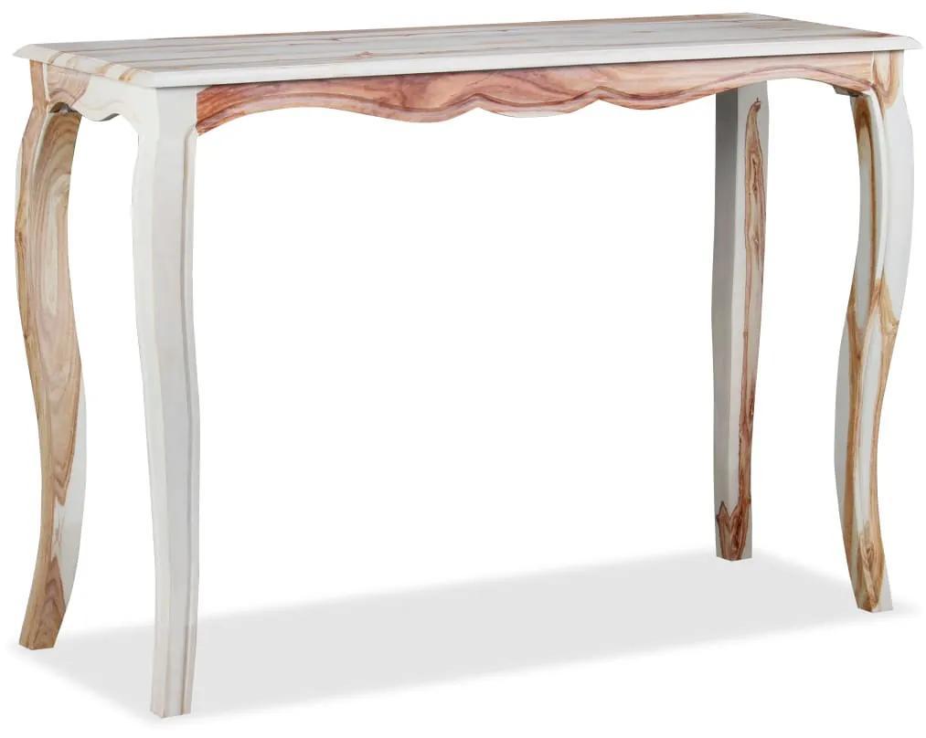 vidaXL Konzolový stolík, masívne sheeshamové drevo, 110x40x76 cm