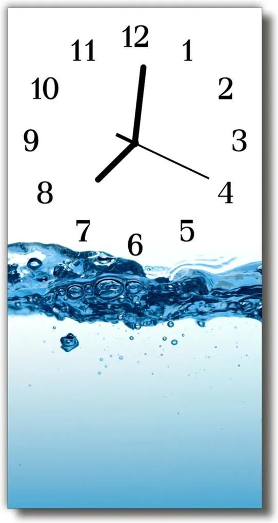 Skleněné hodiny vertikální Příroda Modrá voda