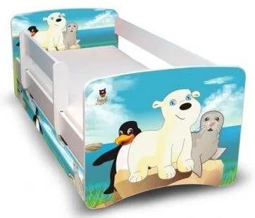 MAXMAX Detská posteľ 160x80 cm so zásuvkou - ĽADOVÝ KAMARÁTI II 160x80 pre všetkých ÁNO