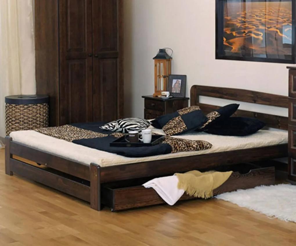 AMI nábytok Postel ořech Saša 180x200