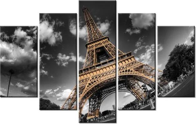 Tlačený obraz Výhľad zdola na Eiffelovu vežu 100x63cm 263A_5D