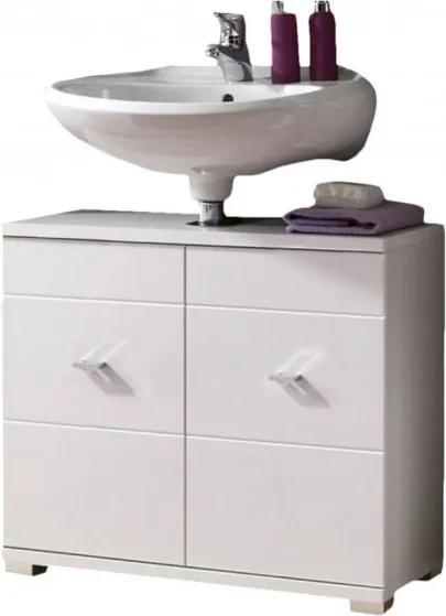 Sconto Umývadlová skrinka MORNING biela lesk