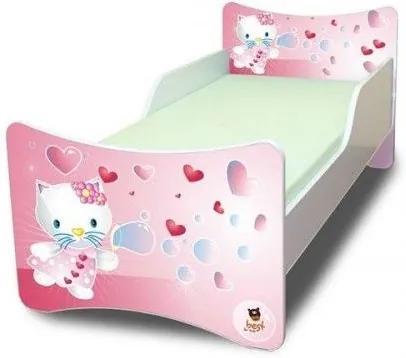 MAXMAX Detská posteľ 200x90 cm - KITTY A BUBLIFUK 200x90 pre dievča NIE