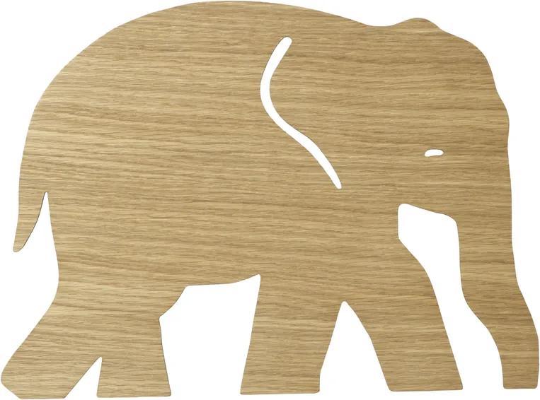 Nástenná lampa Elephant - naolejovaný dub