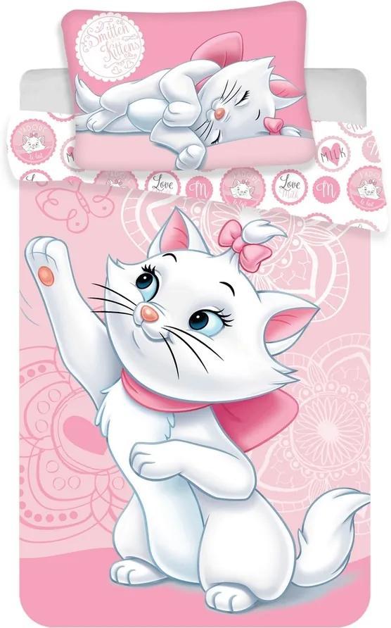 Jerry Fabrics Disney povlečení do postýlky Marie cat baby 100x135, 40x60 cm