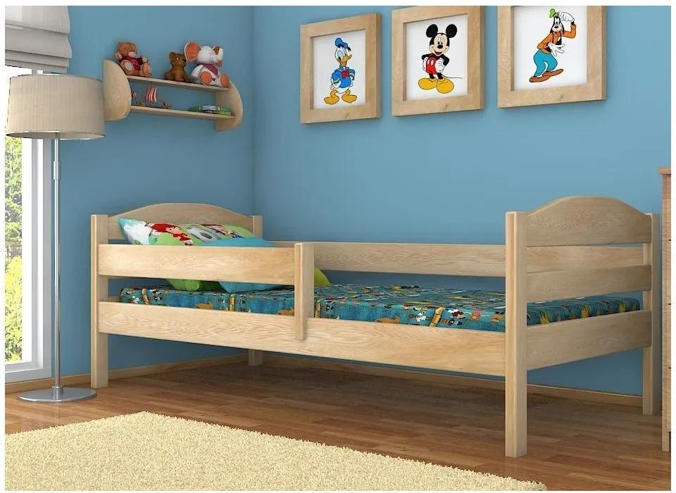 MAXMAX Detská posteľ z masívu 200x90cm so zásuvkami - DP017 200x90 ÁNO