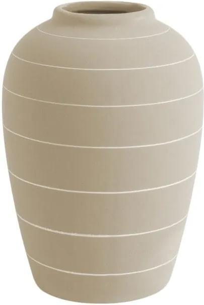 Krémovobiela keramická váza PT LIVING Terra, ⌀ 13 cm