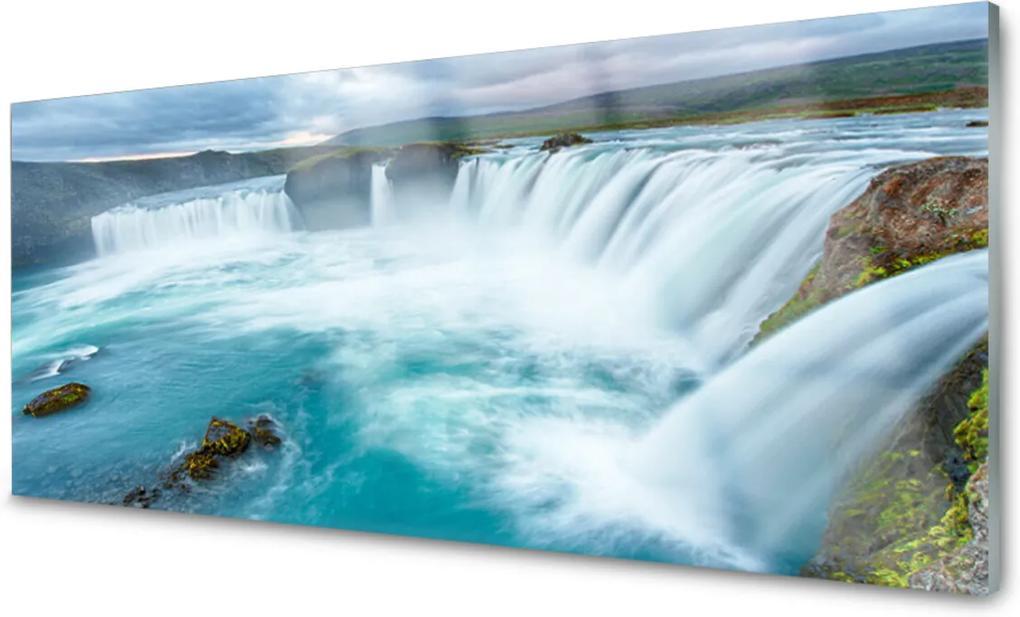 Obraz na skle Skleněný vodopád příroda