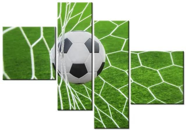 Tlačený obraz Futbalová lopta v bráne 100x70cm 3872A_4B