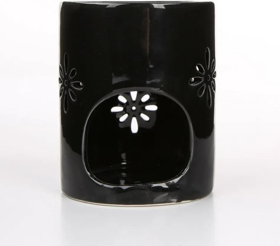 Altom Porcelánová aromalampa Abi 8 x 10 cm, čierna