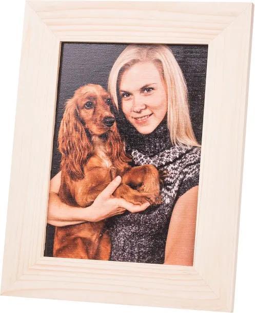 ČistéDrevo Vlastní fotografie v dřevěném fotorámečku 28 x 22 cm