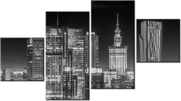 Tlačený obraz Osvetlené nočné predmestie 160x90cm 2196A_4Q