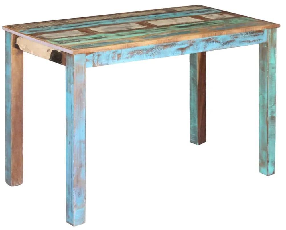vidaXL Jedálenský stôl z recyklovaného dreva, 115x60x76 cm