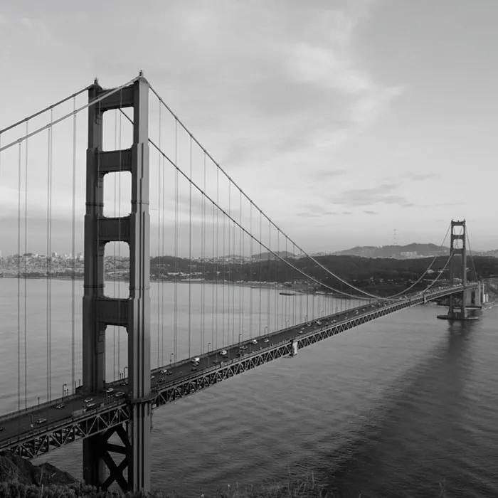 Dimex fototapeta Golden Gate Čiernobiely L-300 | 220 x 220 cm