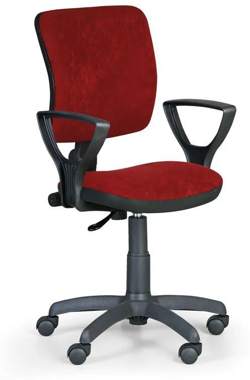Kancelárska stolička MILANO II s podpierkami rúk, červená