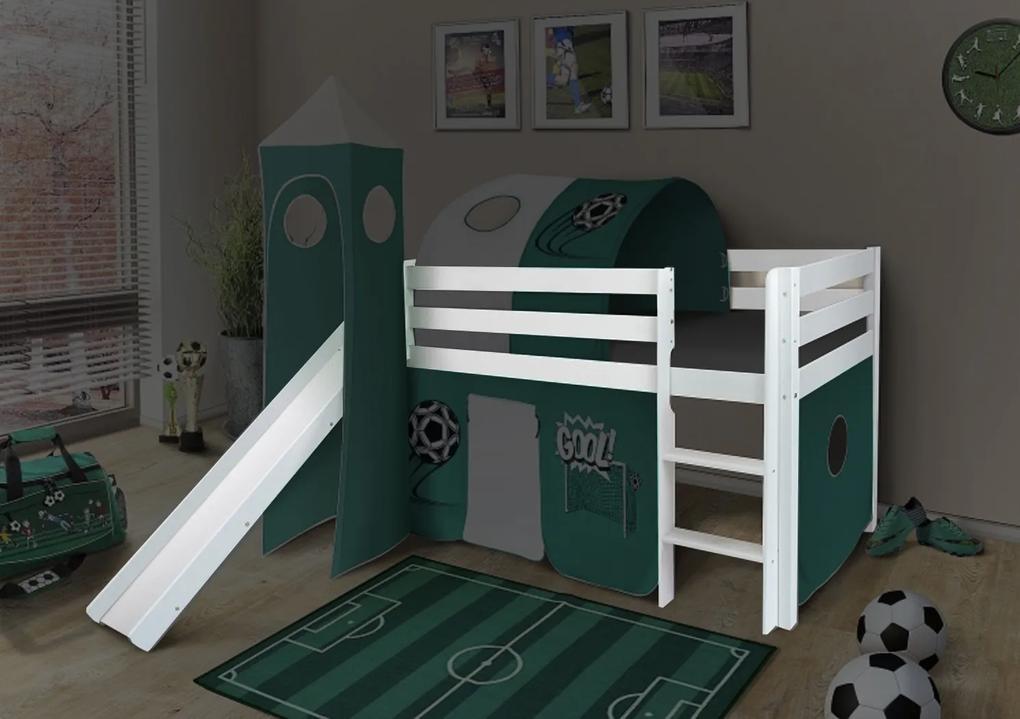 MG Vyvýšená detská posteľ SORO 90x200 - biela