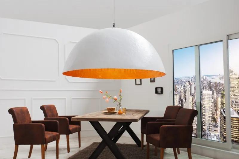 Germany I - Závesná lampa Žiarivé biele zlato 50cm