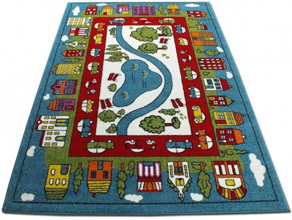 Detský koberec Park v meste modrý, Velikosti 240x330cm