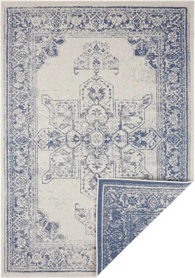 Modro-krémový vonkajší koberec Bougari Borbon, 160 x 230 cm