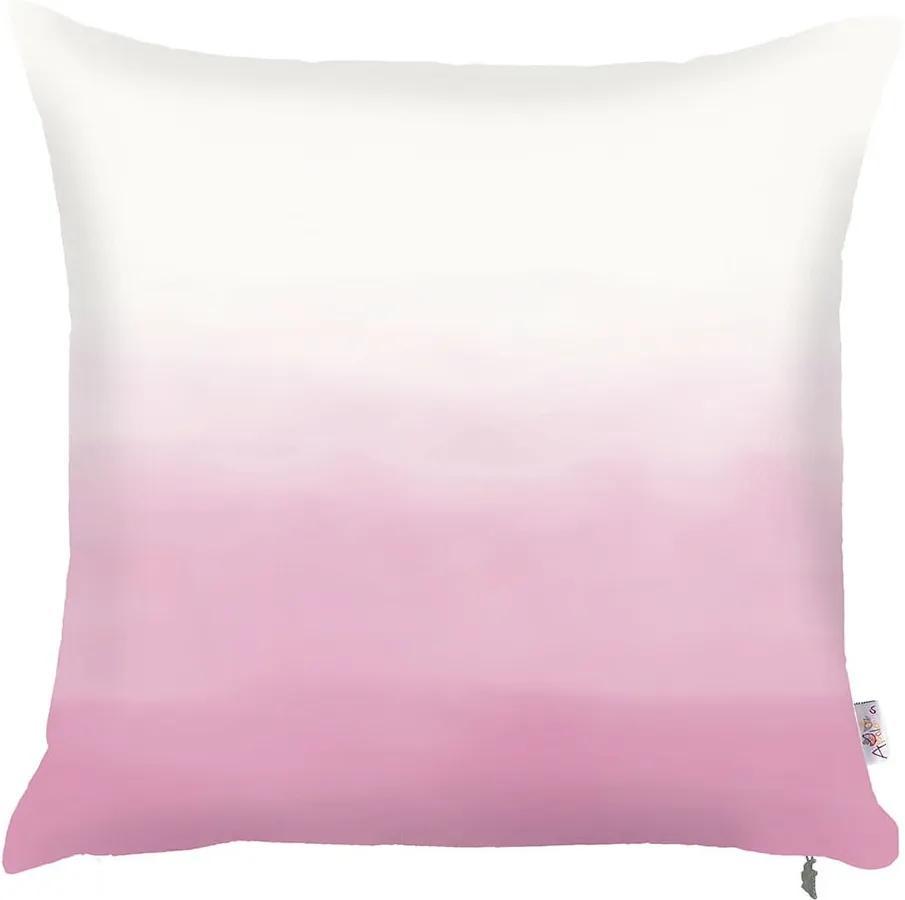 Ružovo-biela obliečka na vankúš Mike & Co. NEW YORK Easter Shade, 43 × 43 cm