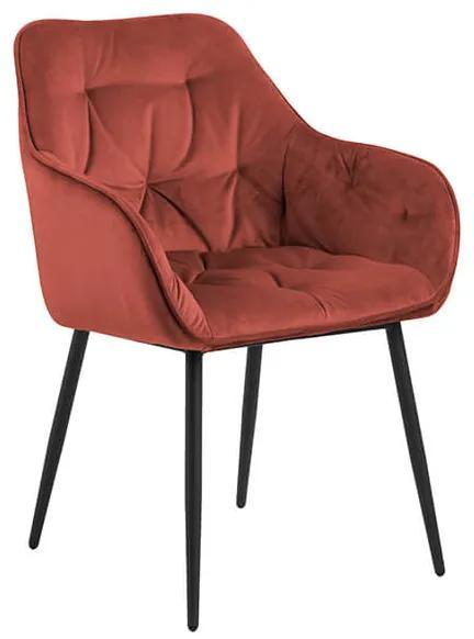 Brooke stolička koralová / čierna