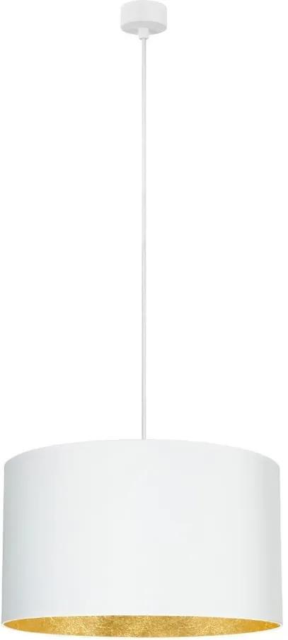 Biele stropné svietidlo s vnútrajškom v zlatej farbe Sotto Luce Mika, ∅ 50 cm