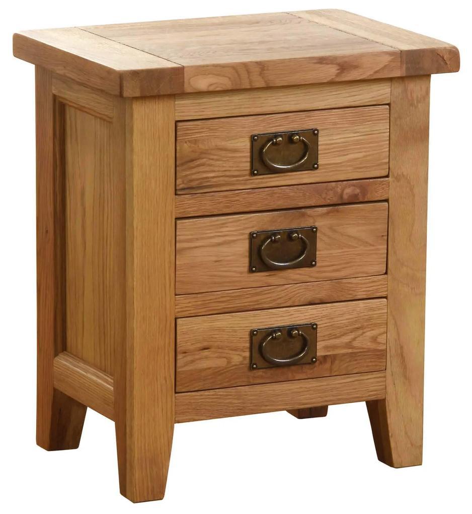 Nočný stolík s 3 zásuvkami 500x350x585